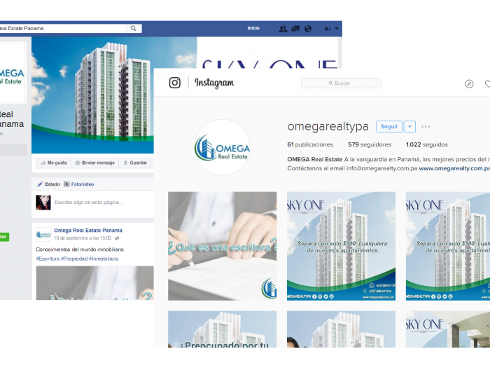 Redes Sociales Omega Real Estate